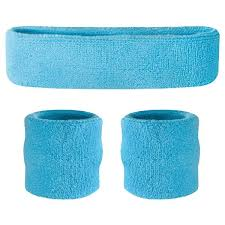 sweat headbands suddora kids headband wristbands set 1 band 2 wrist