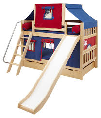 laugh boy twin over twin slat slide deluxe tent bunk bed hayneedle