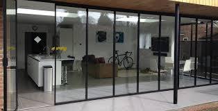 Aluminium Folding Patio Doors Bi Folding Doors Ultraslim Aluminium Frameless Glass Doors