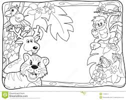 download jungle animals coloring page