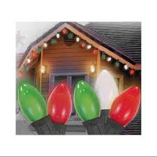 buy set of 25 opaque red c9 christmas lights green wire in cheap