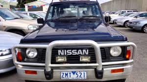 nissan sport 1990 1990 nissan patrol gq st30 4x4 blue 5 speed manual 4x4 wagon