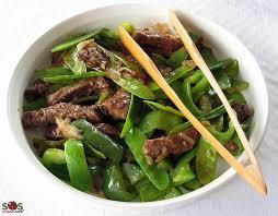 cuisiner des pois mange tout boeuf chinois aux pois mange tout sans alcool