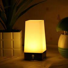 battery powered cl light wireless motion sensor bedroom night light battery powered led table