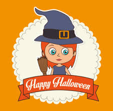 happy halloween banner witch vector illustration royalty free