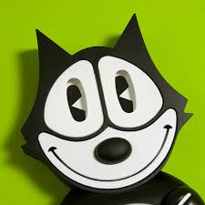 felix the cat animated wall clock vintage cartoon clocks