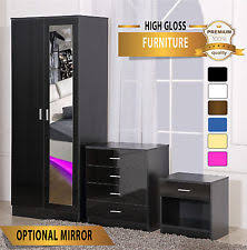 mirrored bedroom furniture ebay