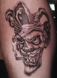 jester joker on leg cal joker