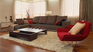 elegant living room design ideas with brown accent home design red
