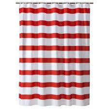 Kids Shower Curtains Target Target Room Essentials Red U0026 White Rugby Stripe Shower Curtain Re