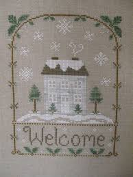 Country Cottage Cross Stitch 3761 Best Holidays Winter Snowflake Bentley Images On
