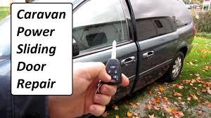 caravan power sliding door repair easy youtube