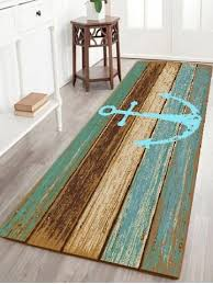 Outdoor Area Rugs For Decks Cyan W16 Inch L47 Inch Deck Anchor Pattern Water Absorption