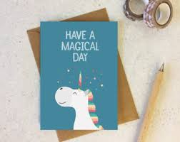 unicorn pun card etsy