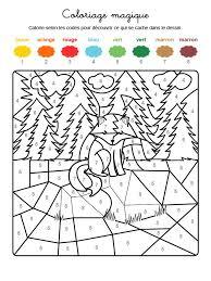 Coloriage magique dun animal de la forêt  FLE Animaux  Pinterest