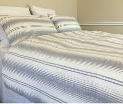 grey and white striped duvet cover ticking stripe duvet