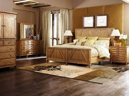 Pine Bed Set Rustic Pine Bedroom Furniture Brown Wood Classic Frame Bed Log