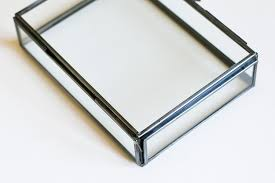 4x6 Photo Box Amazon Com La Rousse Glass Photo Box Silver 4x6 Home U0026 Kitchen