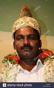 muslim and groom portrait of muslim groom dressed for his wedding tamil nadu