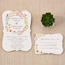 wedding invitations floral bracket shaped country rustic floral wedding invitations ewib300