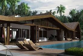 tropical bungalow by map