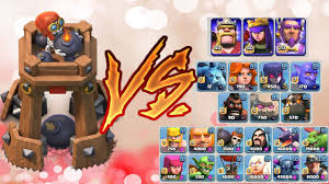 clash of clans all troops new defense bomb tower vs all troops witch buff test new update