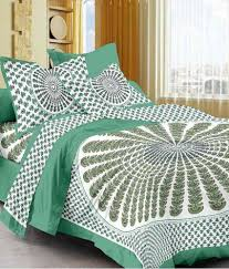uniqchoice 100 cotton double bed sheet with 2 pillow cover