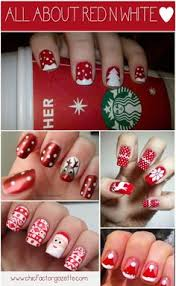 santa hat nails i would never do this but for those of you who