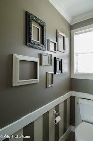 Two Tone Walls With Chair Rail Chair Rail Molding Ideas For The Bathroom Renocompare Bathroom
