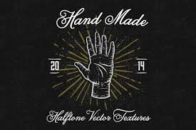 hand made vector halftone textures for members