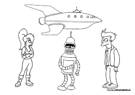 new futurama coloring pages 54 for download coloring pages with