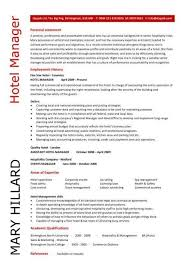Sample Resume For Hotel Jobs hotel manager resume sample best resume for you