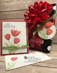 tranquil tulips patty u0027s birthday card u0026 gift u2013 just sponge it