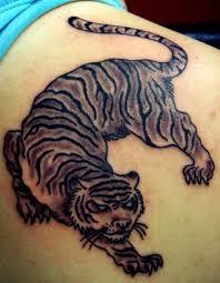 collection of 25 tiger tribal on back shoulder