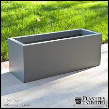 metal rectangular planter home design styles