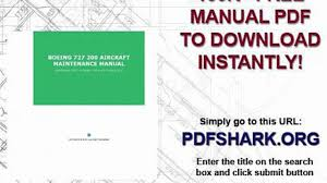 boeing 727 200 aircraft maintenance manual video dailymotion