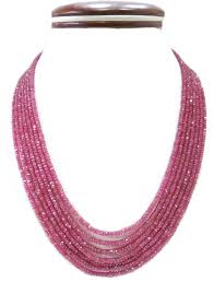 natural beads necklace images 7 strands 400 00 carats natural ruby beads necklace gleam jewels jpg