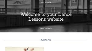 dance lessons website templates godaddy dance lessons example 14
