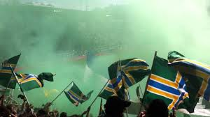Timbers Flag Timbers Army Post Goal Celebration Youtube