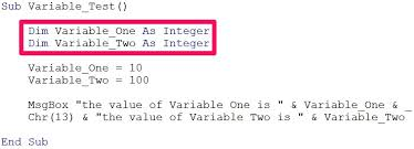 Declaration In Resume Sample Define Variables In Vba Declare Variables And Assign Them Expressions