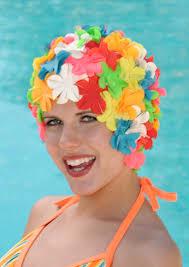 petal retro swim cap