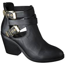 target womens boots black mossimo lina buckle ankle boot refinery29 would buy