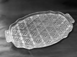 vintage glass serving tray hexagons etagere antiques vintage