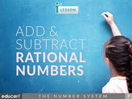 add u0026 subtract rational numbers lesson plans