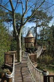 this family lives in a treehouse that looks like a castle just