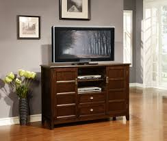 Dark Wooden Tv Stands Varnished Dark Teak Wood Tall Tv Stand For Bedroom Using Two Tier