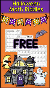 halloween math centers first grade includes free printable