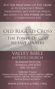 Old Rugged Cross Old Rugged Cross 3x5 Church Invitation Kjv Gospel Tract