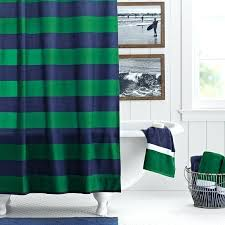 Blue And Green Shower Curtains Navy Stripe Shower Curtain Rugby Stripe Shower Curtain Navy Green