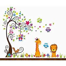 theme wall charming woodland peel stick wall sticker